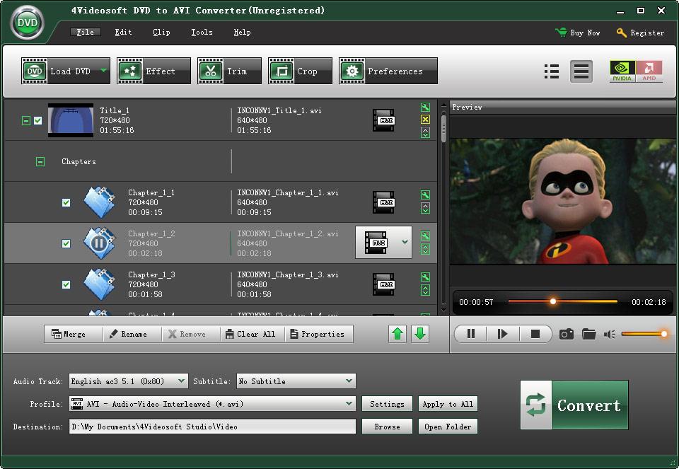 DVD to AVI Converter
